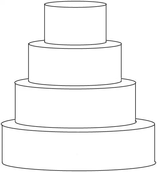 4 tier cake template.