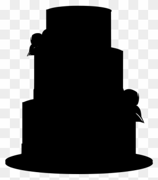 Black Wedding Cake Clip Art.