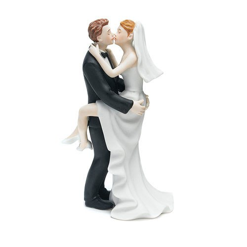 Kissing Couple Cake Topper.