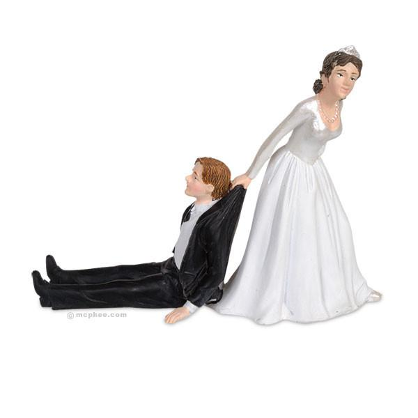 Reluctant Groom Cake Topper.