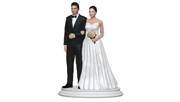 Wedding Cake Topper Figurine.