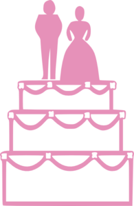 Pink Wedding Cake Clipart.