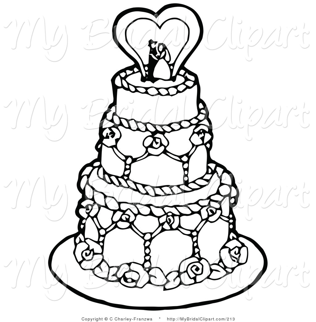 Wedding cake toppers clipart - Clipground