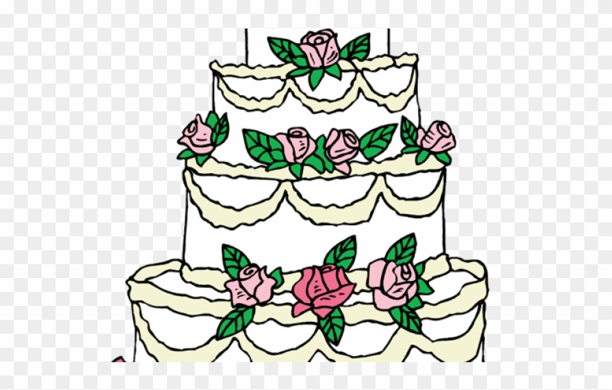 Wedding Cake Clipart Drawing.