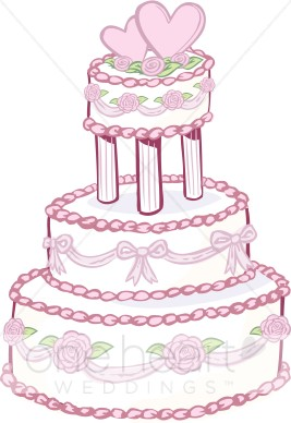 Rose Wedding Cake Clipart.