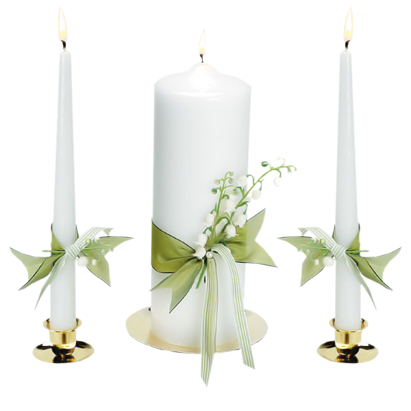 White Candles Clipart.