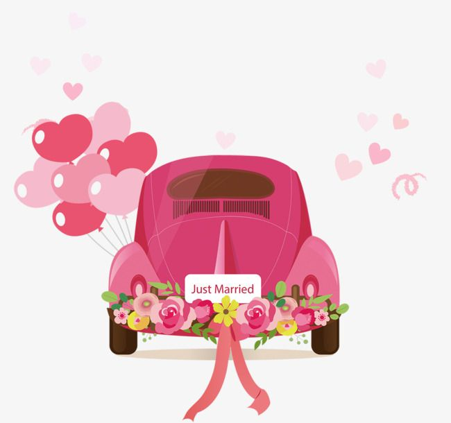 Cartoon Car, Car Clipart, Wedding Car, Wedding Car Rental.