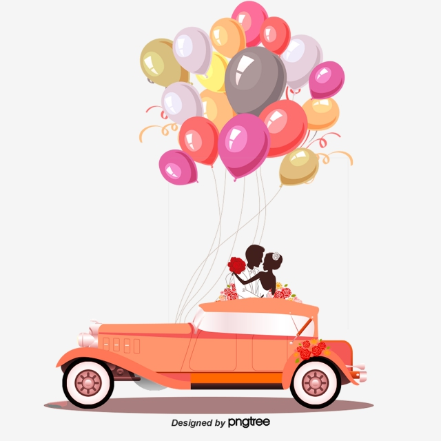 Wedding Car PNG Images.
