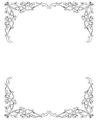 wedding invitation border clip art.