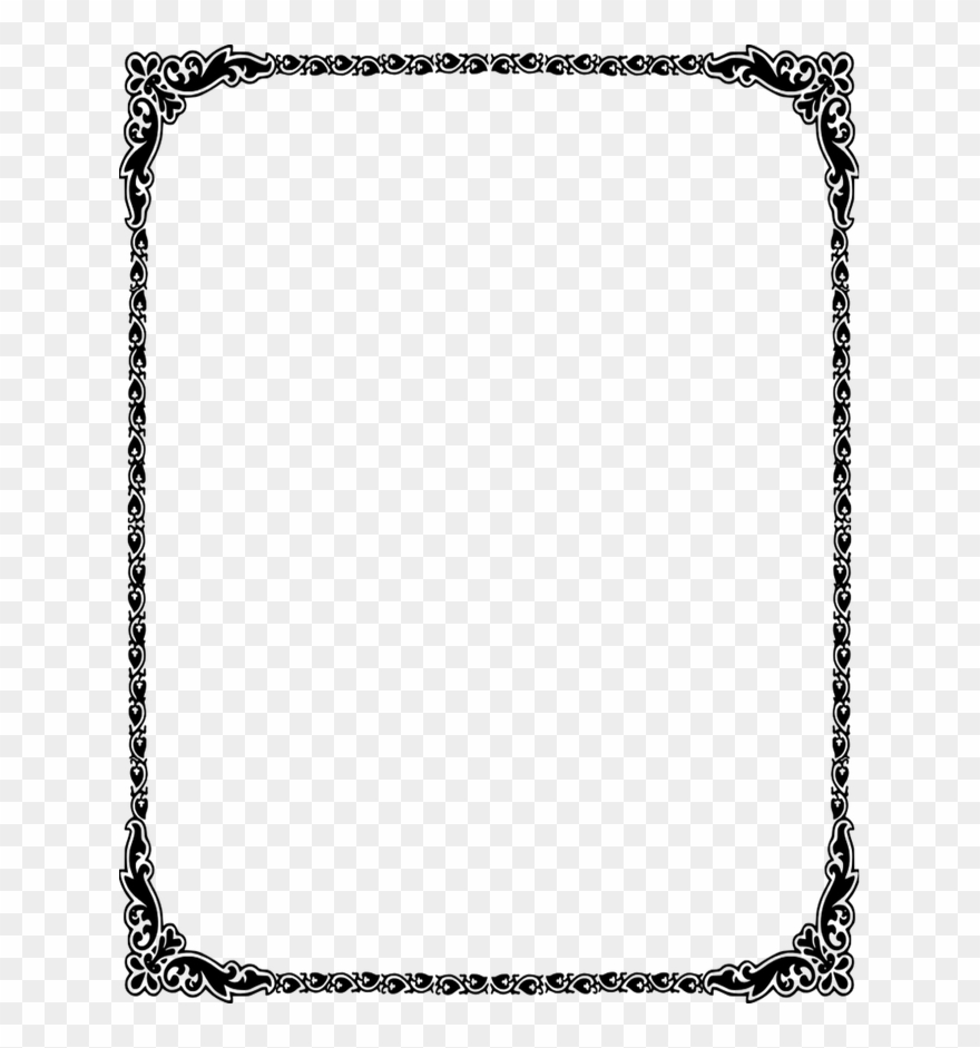 Dorable Wedding Invitation Borders Clip Art Motif.