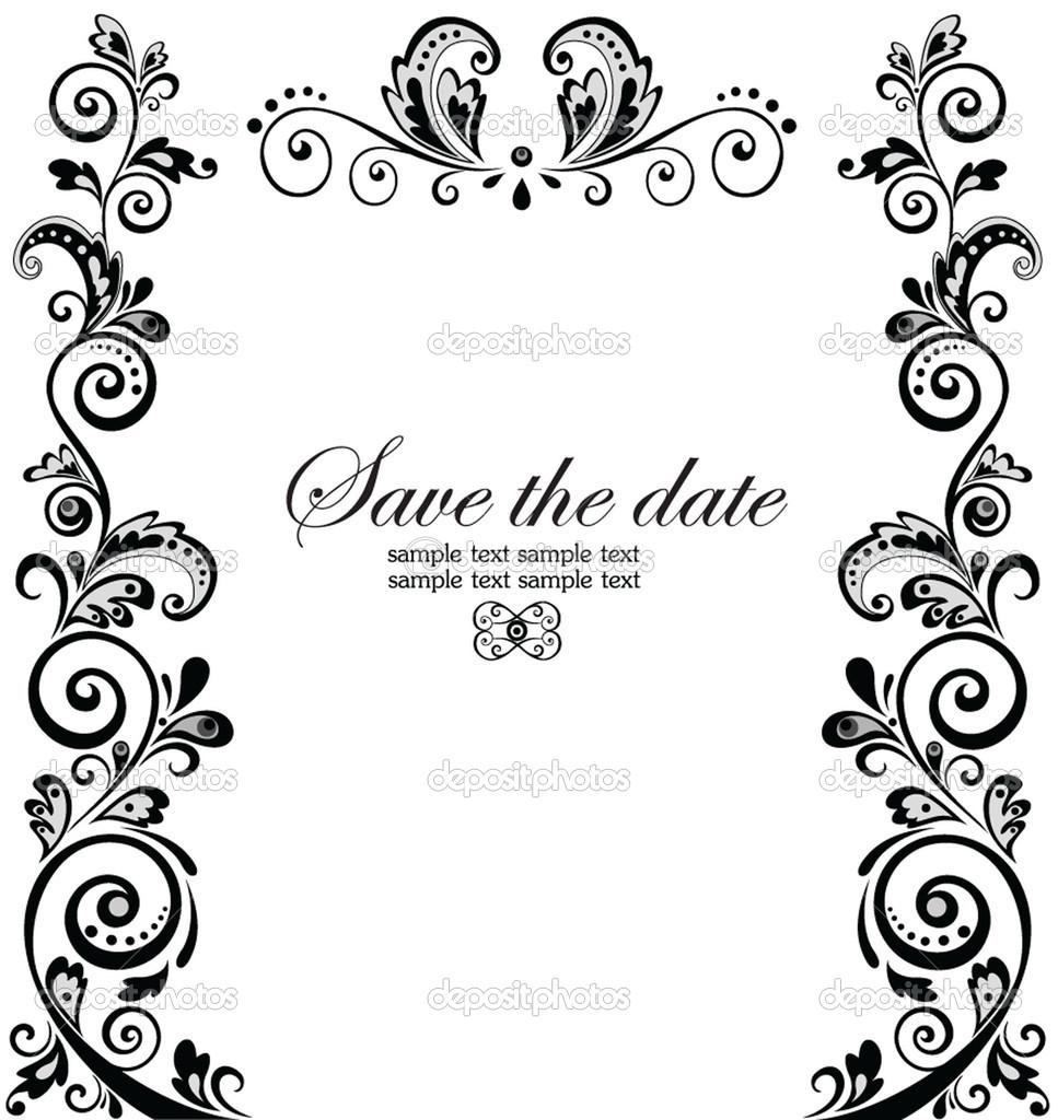 Border clipart for wedding invitation 4 » Clipart Station.