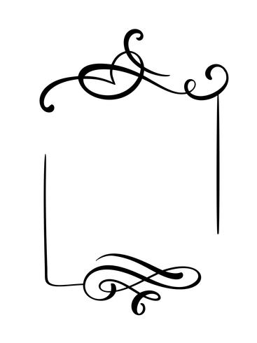 Decorative hand drawn vintage vector frame and borders.