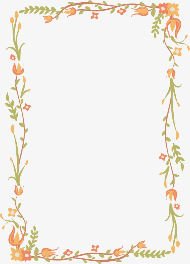 Exquisite Floral Border, Vector Png, Flower Vine, Border Of.