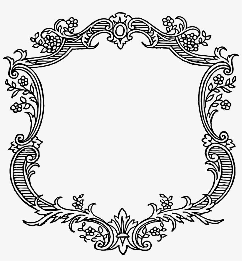 Wedding Card Border Design Vector Elegant Decorative.