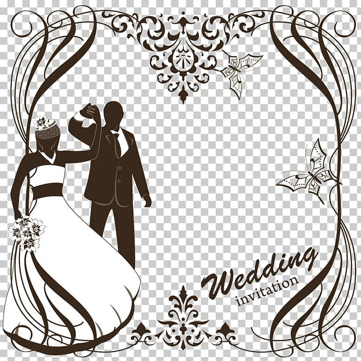 Wedding invitation , Wedding greeting card material PNG.