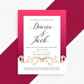 Invitation Vectors, Photos and PSD files.