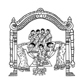 Tamil Wedding Card Clipart.