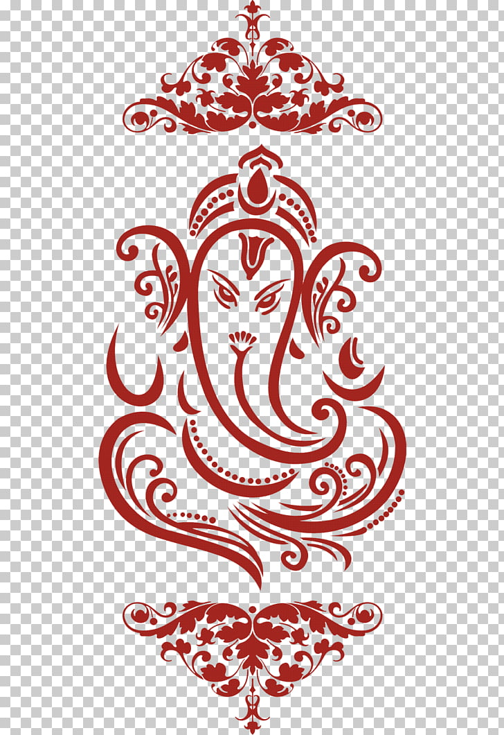 Ganesha Wedding invitation , wedding card PNG clipart.