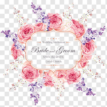 Wedding Invitation Templates cutout PNG & clipart images.