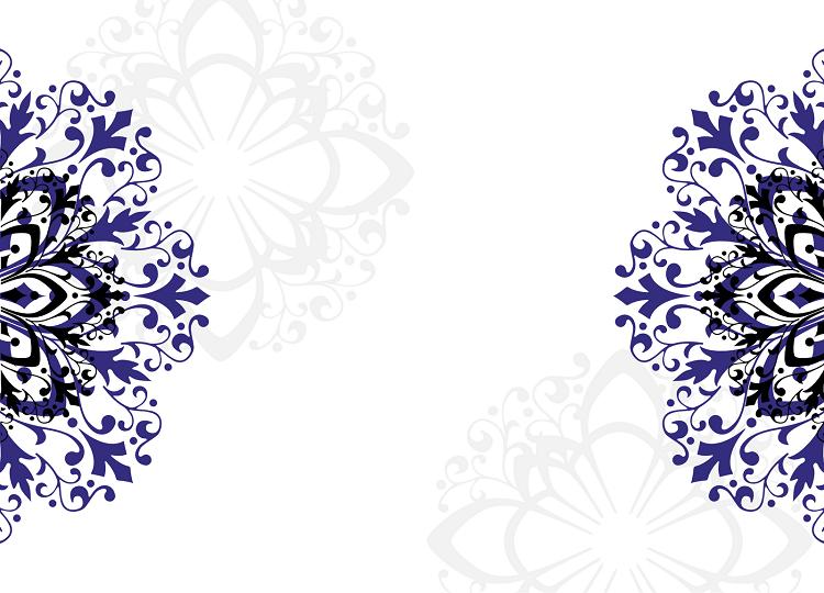 royal blue wedding invitation blank templates.