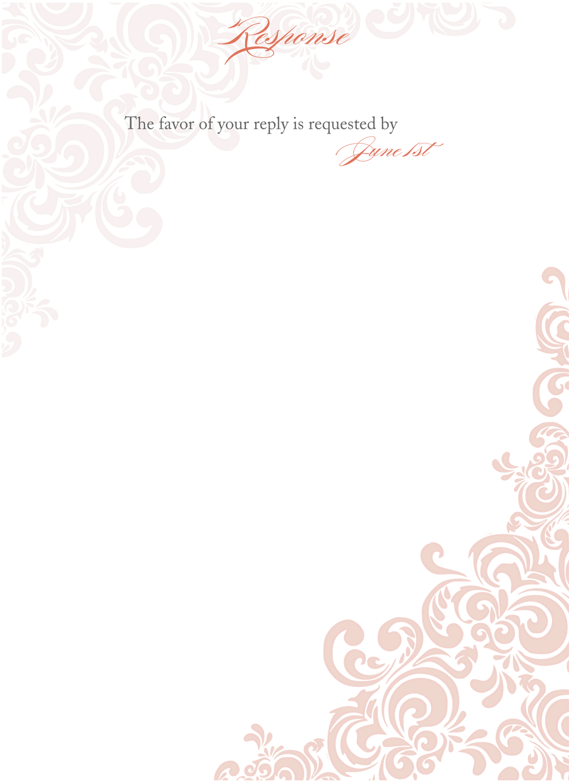 Blank Wedding Invitation Design.