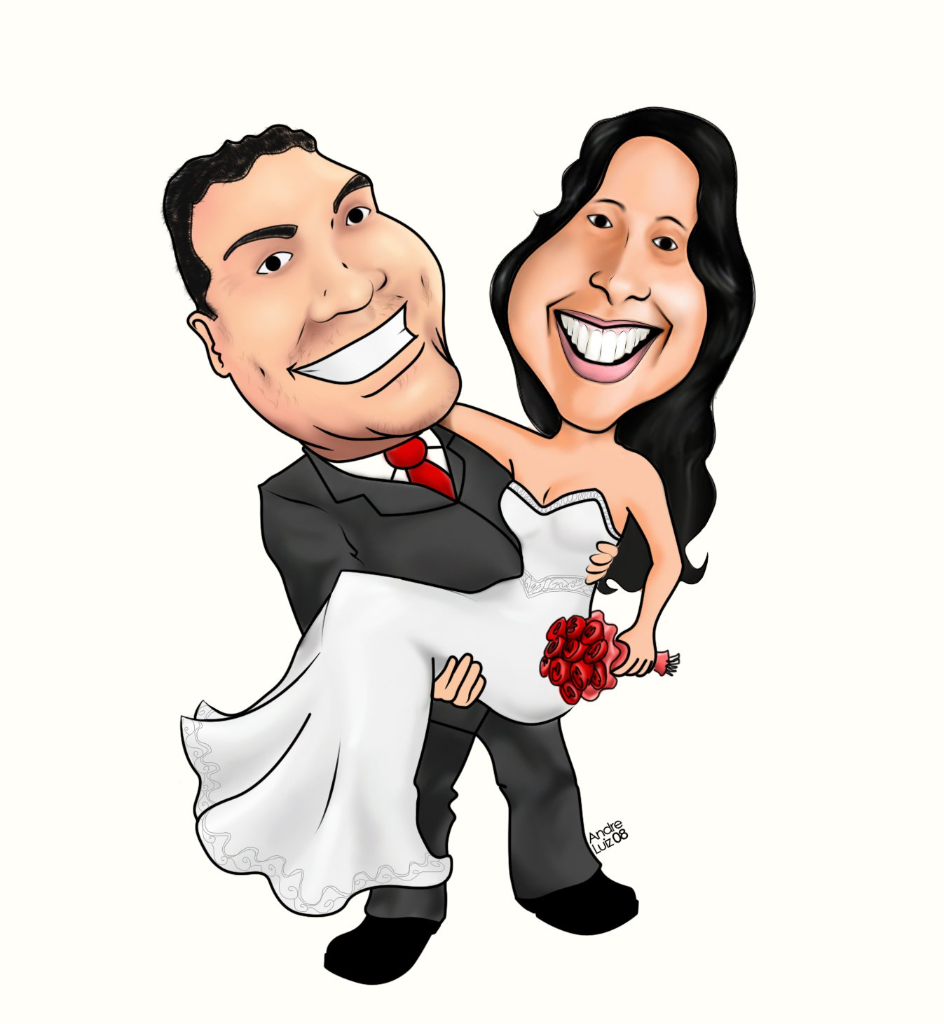 Wedding caricature png 2 » PNG Image.