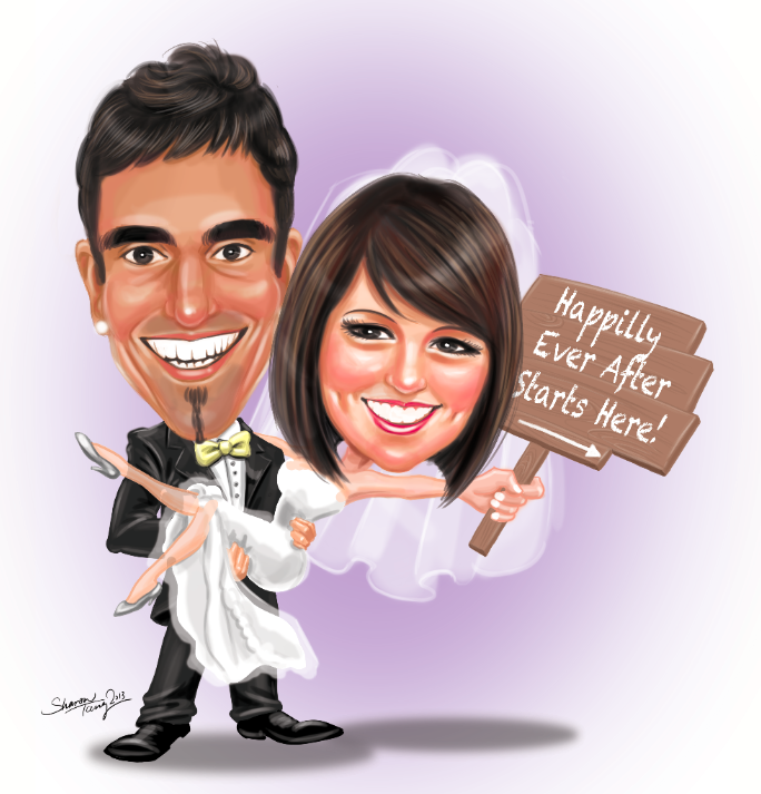 Wedding caricature png 5 » PNG Image.