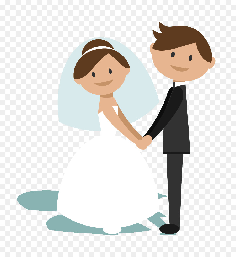 Bride And Groom Cartoon clipart.