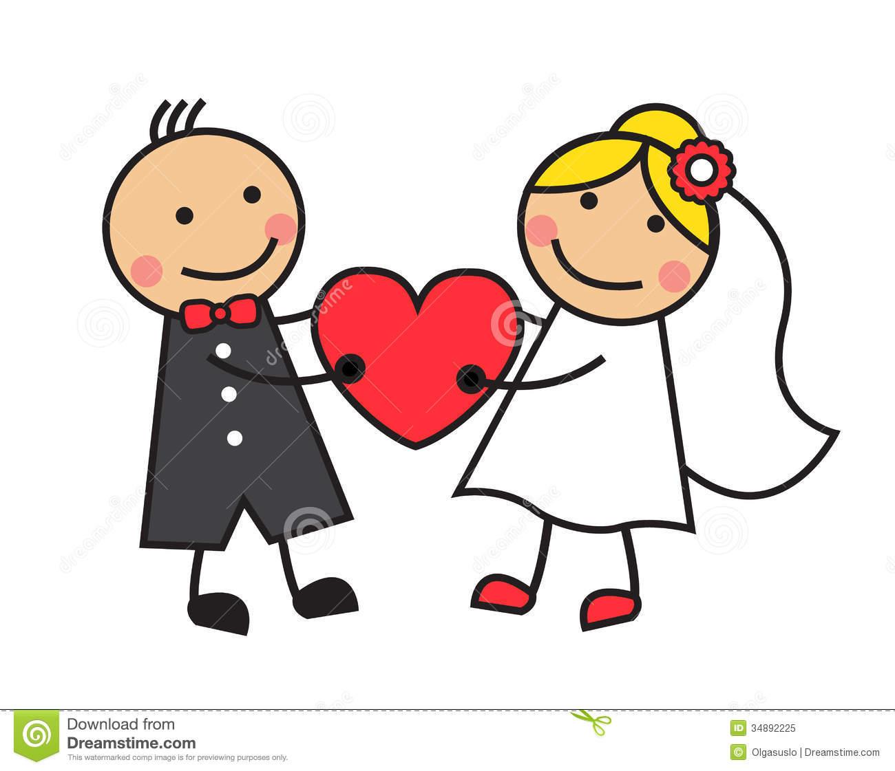 Wedding Cartoon Clipart.