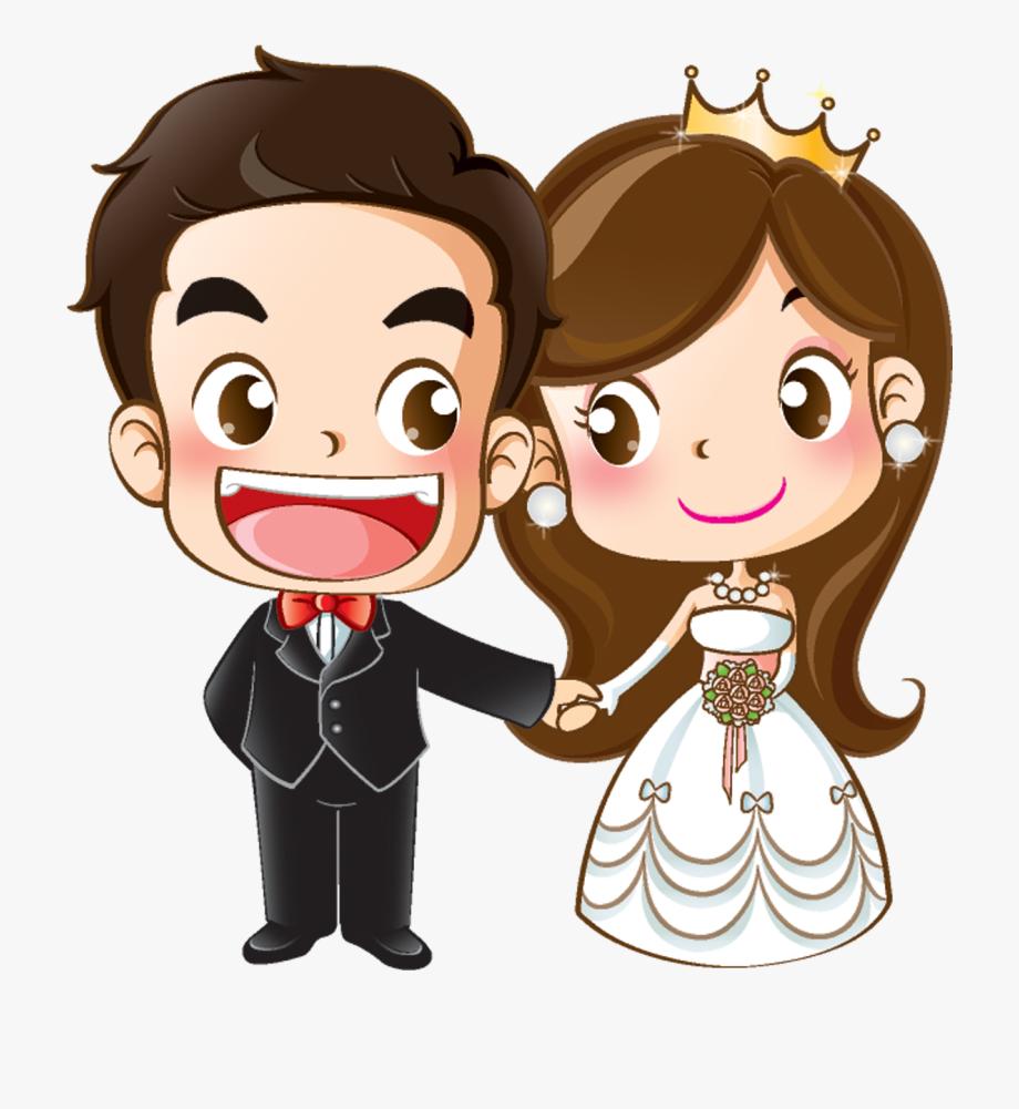 And Groom Wedding Cartoon Bride Marriage Invitation.