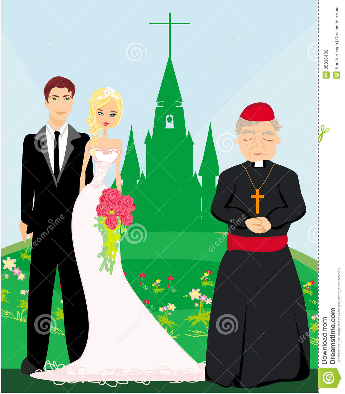 Church Wedding Clipart.