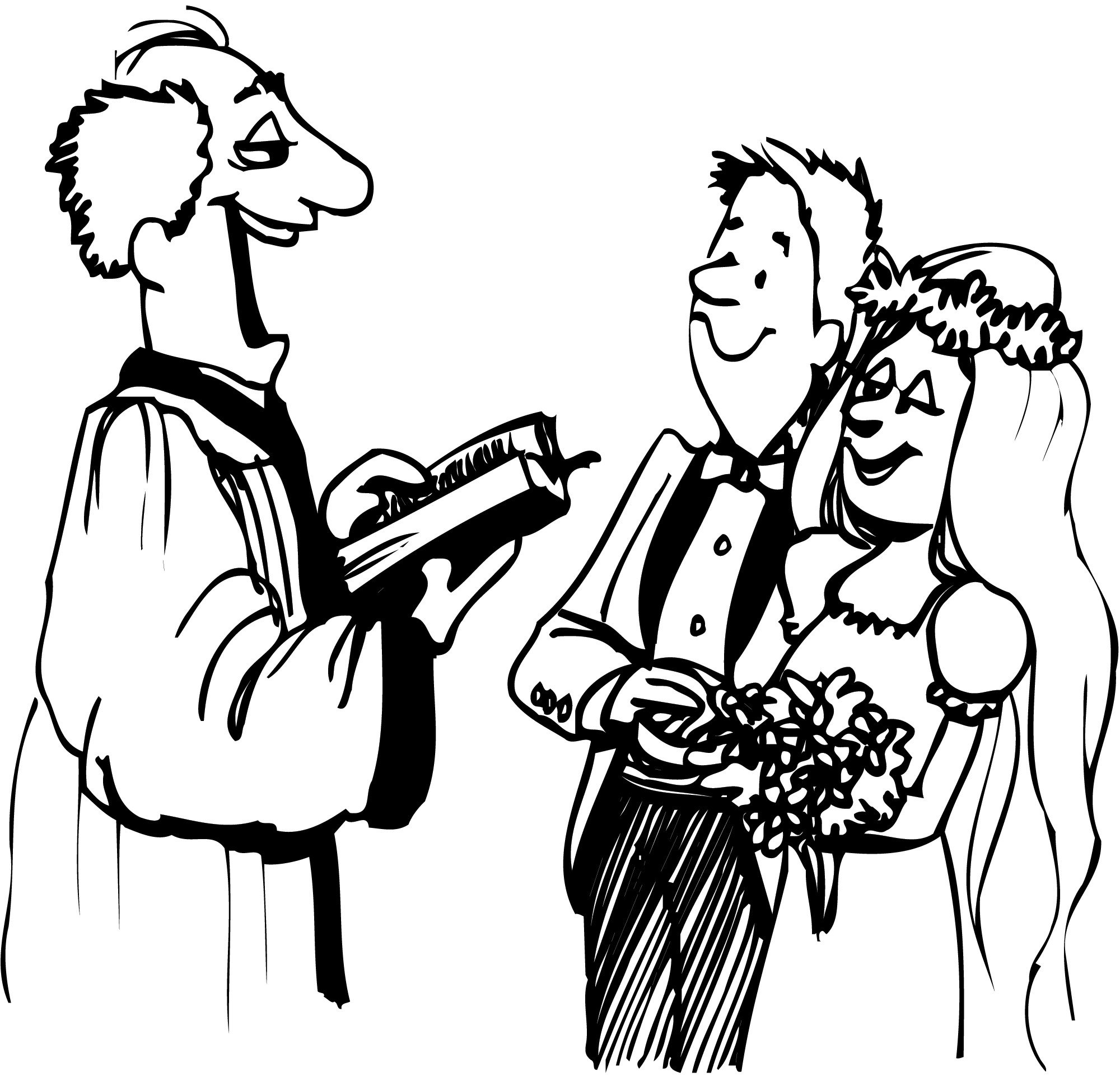 Wedding ceremony clipart black and white 6 » Clipart Portal.