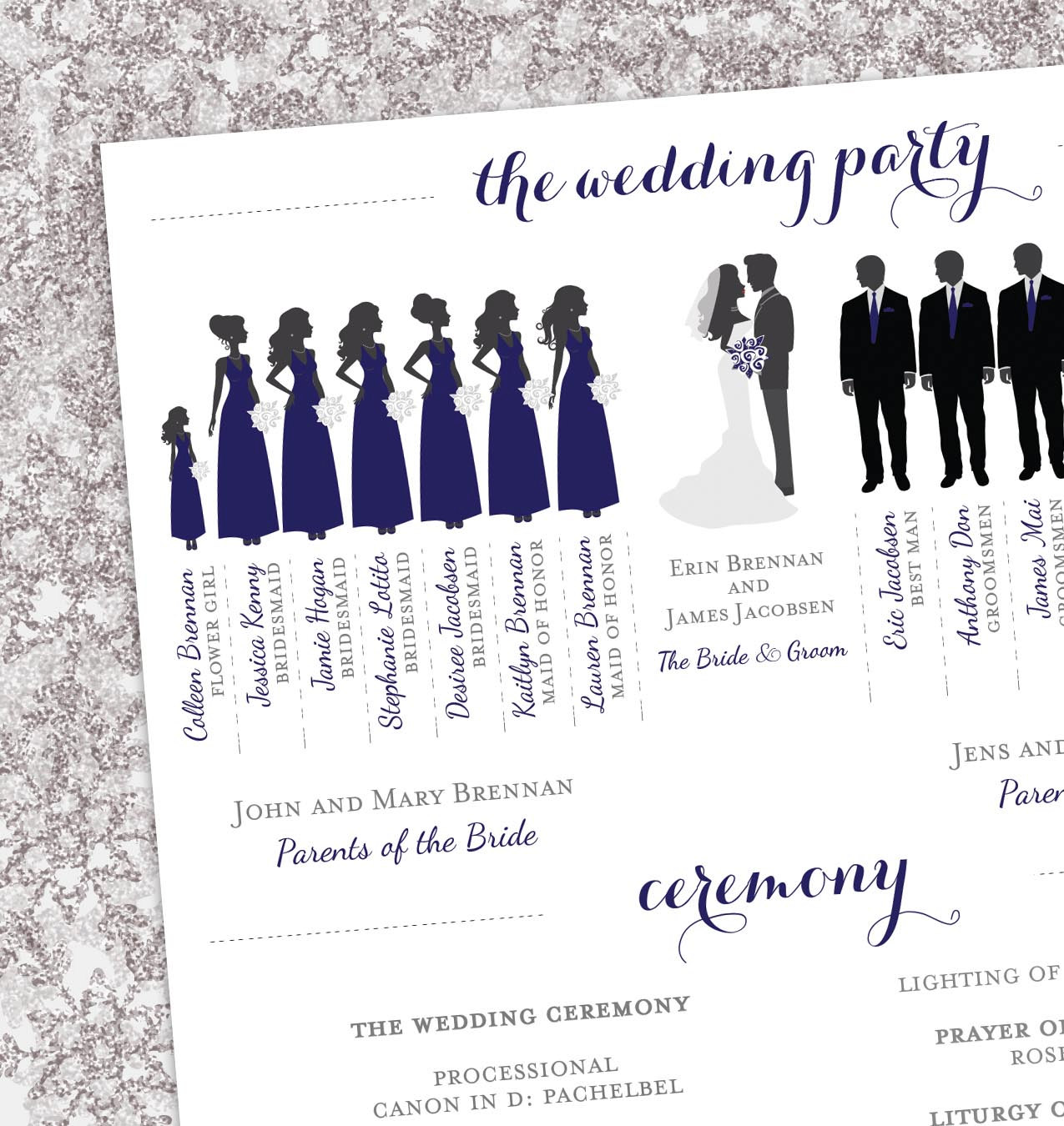 Wedding Party Silhouette Clip Art Program.