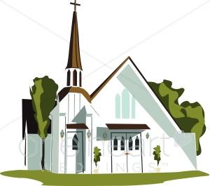 Religious Wedding Clipart, Christian Wedding Clipart, Church.