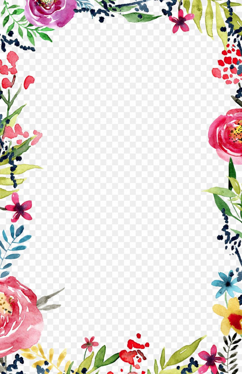 Wedding Invitation Flower Borders And Frames Template Clip.