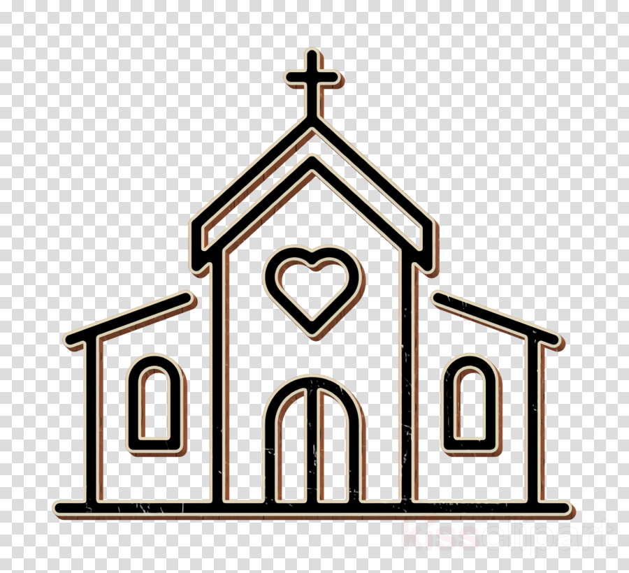 Church icon Wedding icon clipart.