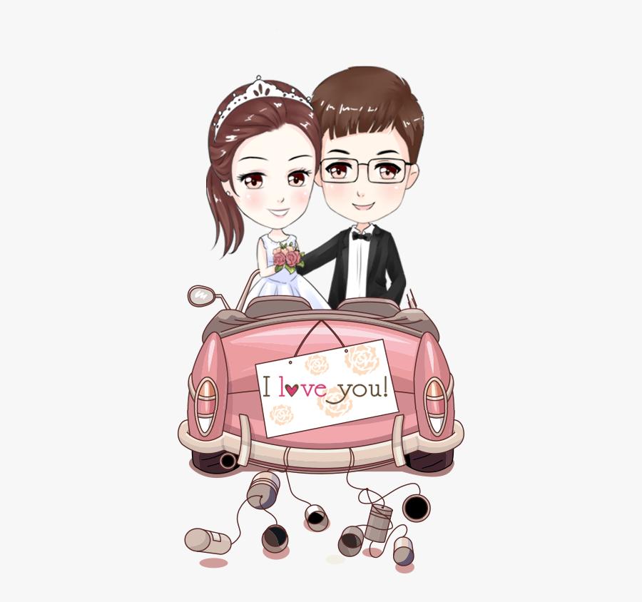 Bride Couple Marriage Cartoon Wedding Free Clipart.