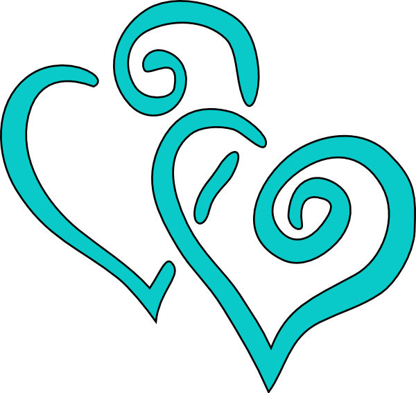 Free teal blue and purple wedding clipart ideas.
