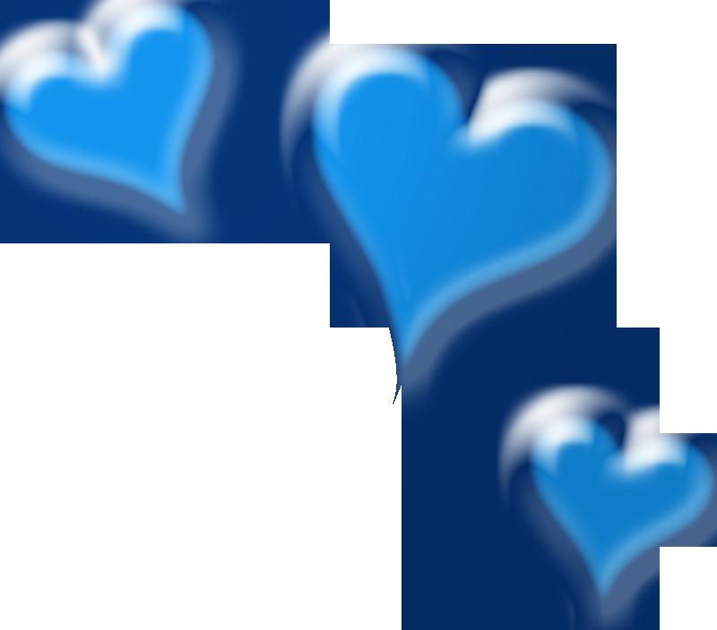 Blue Hearts Wedding Clipart.