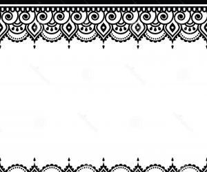 Hindu Wedding Border Clipart.