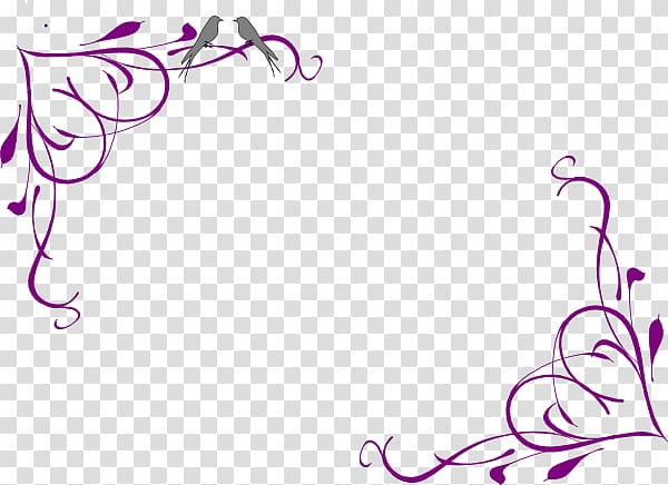 Purple scroll border, Wedding invitation Borders and Frames.
