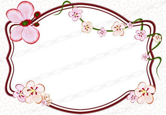 Instant download 300dpi png sakura borders frames drawing print.