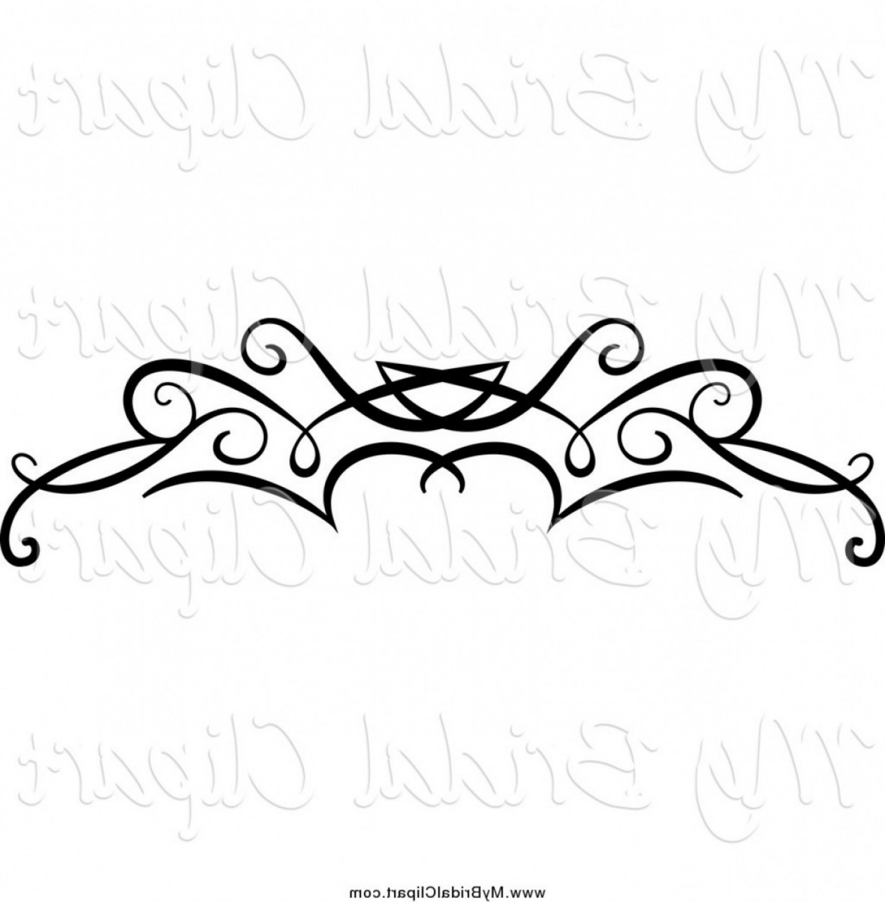 Bridal Clipart Of A Black Swirl Border Flourish By Vector.
