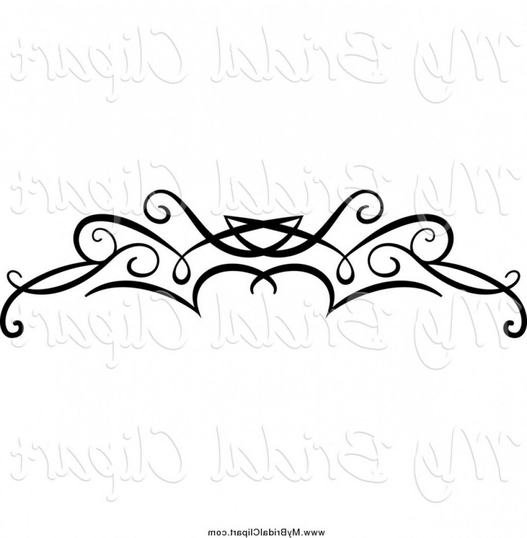 Bridal Clipart Of A Black Swirl Border Flourish By Vector.