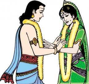 Indian Wedding Clipart Colour.