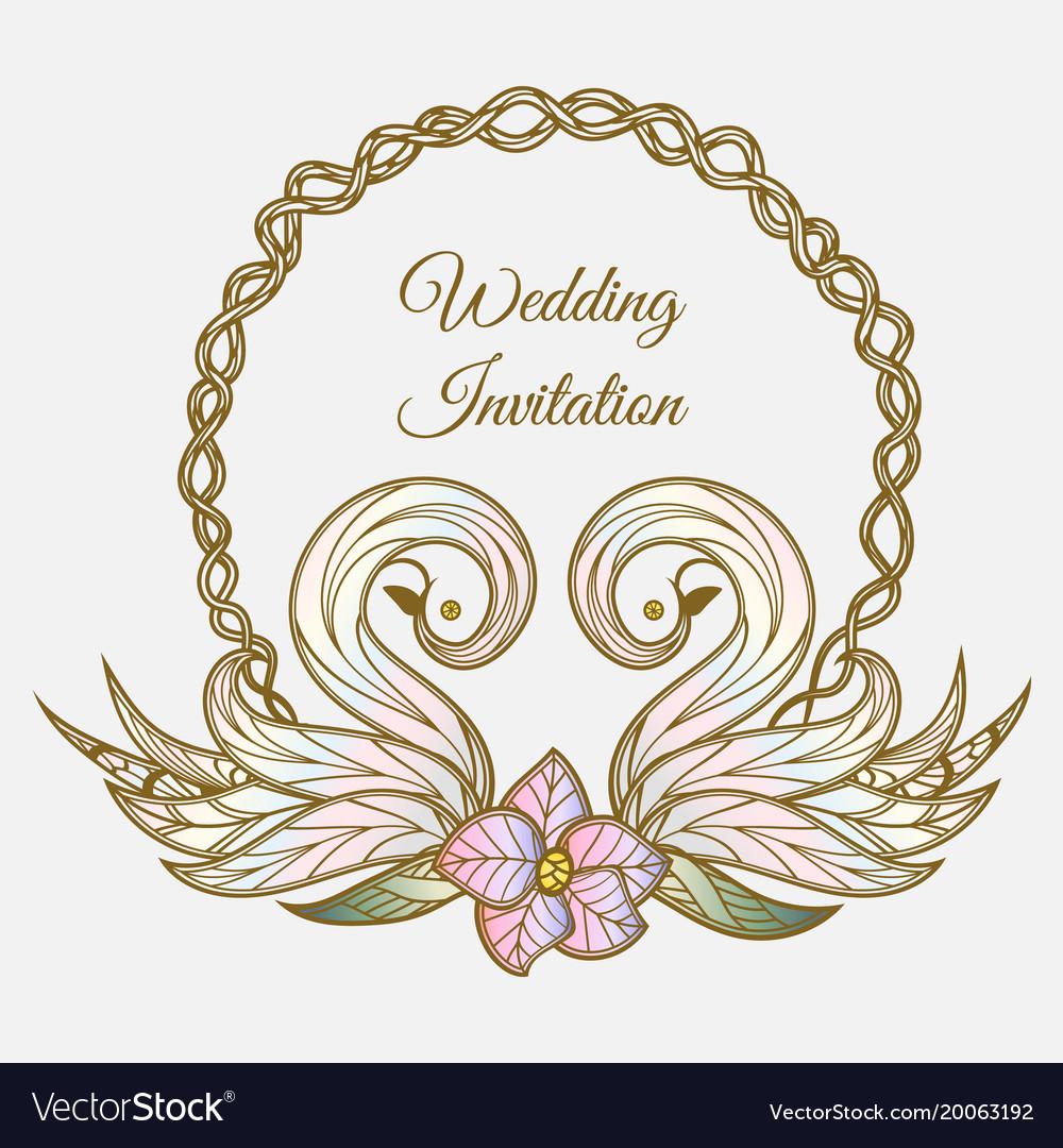 Color wedding invitation.