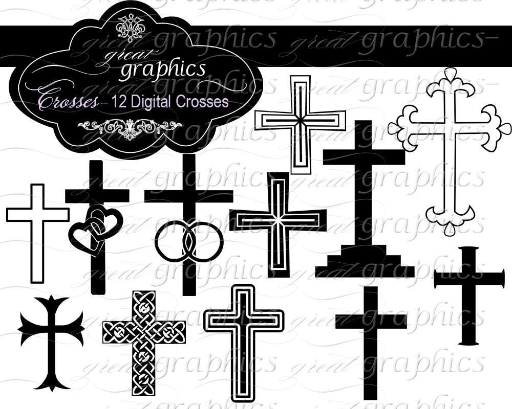 Cross Clip Art Cross Clipart Baptism Clipart Wedding Clipart Digital Cross  Christening Clipart Wedding Clip Art.