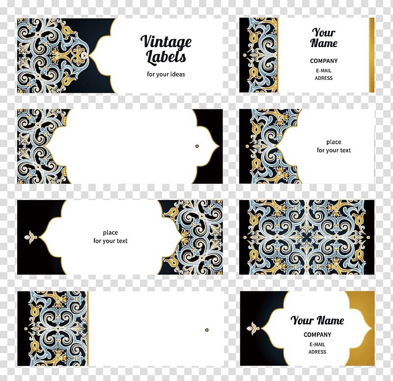 Vintage Labels collage, Wedding invitation Euclidean.