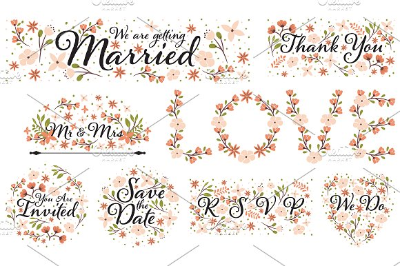 Wedding Clipart Designs PNG and EPS ~ Illustrations on Creative Market.