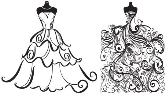 Wedding clip art flourish scroll vector free vector download.